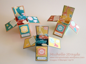 3 x Card in a box - Baby Shower