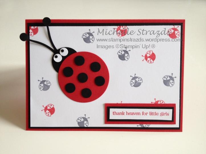 Ladybug Christening Card