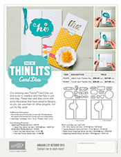 Thinlit Card Dies Flyer
