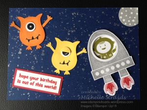 Alien Birthday Card