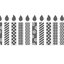 Birthday Candles Jumbo Stampin' Around Wheel - Normally $14.95, now $11.21