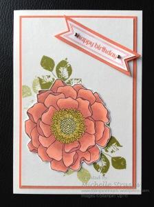 Blended Bloom Blendabilities Birthday Card