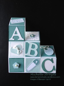 Lost Lagoon Block Step Card Baby Shower