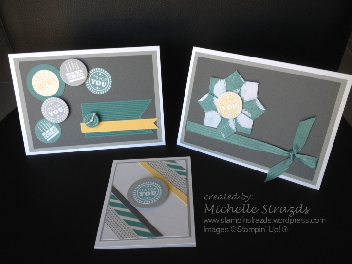 Artful Stampers Colour Challenge 19 - 3 cards