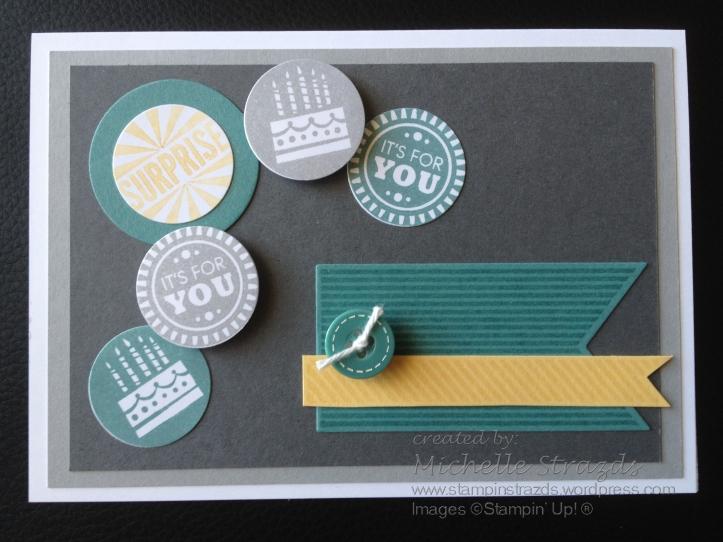 Banner & Button Birthday Card