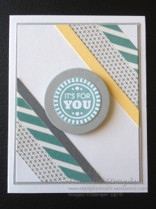 It's For You Washi Tape Note Card